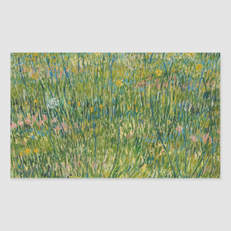 Vincent van Gogh - Patch of Grass Rectangular Sticker