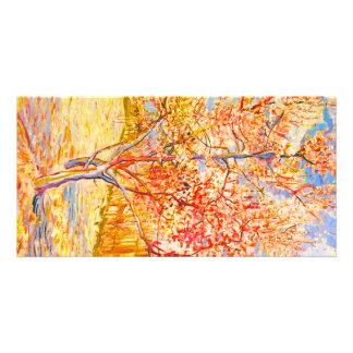 Vincent Van Gogh Peach Tree in Blossom Vintage Art Custom Photo Card