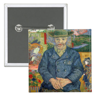 Vincent van Gogh | Pere Tanguy (Father Tanguy) 15 Cm Square Badge