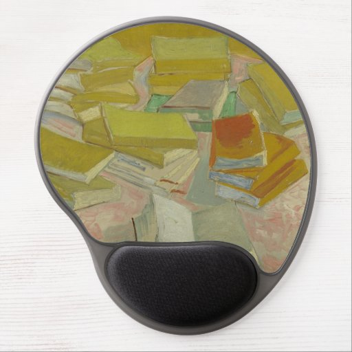 Vincent van Gogh - Piles of French novels Gel Mouse Pads