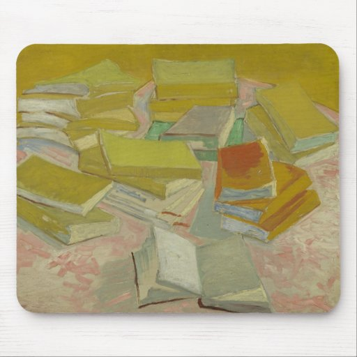 Vincent van Gogh - Piles of French novels Mouse Pads