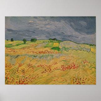 Vincent van Gogh | Plain at Auvers, 1890 Poster