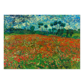 Vincent Van Gogh Poppy Field Floral Vintage Art Pack Of Chubby Business Cards