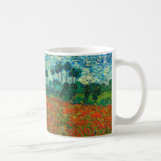Vincent Van Gogh Poppy Field Floral Vintage Art Coffee Mug