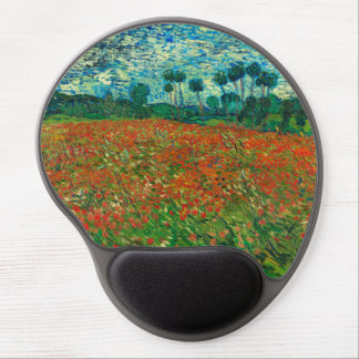 Vincent Van Gogh Poppy Field Floral Vintage Art Gel Mouse Pad
