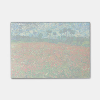 Vincent Van Gogh Poppy Field Floral Vintage Art Post-it Notes