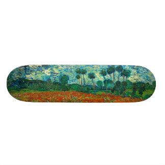 Vincent Van Gogh Poppy Field Floral Vintage Art Skate Board Decks