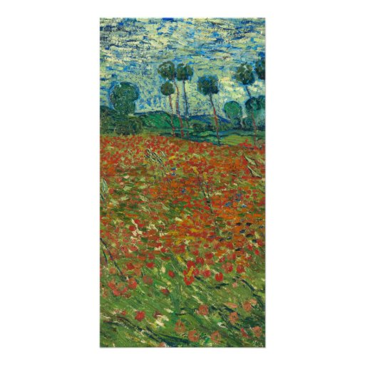 Vincent van Gogh - Poppy field Personalized Photo Card