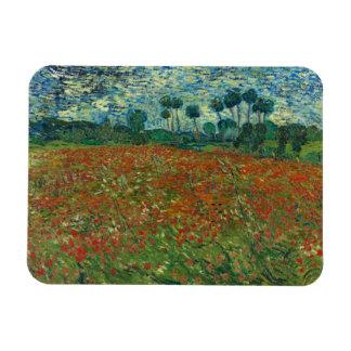 Vincent van Gogh - Poppy Field Rectangular Photo Magnet