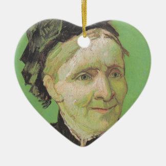 Vincent Van Gogh Portrait of Artist's Mother Art Ceramic Heart Decoration