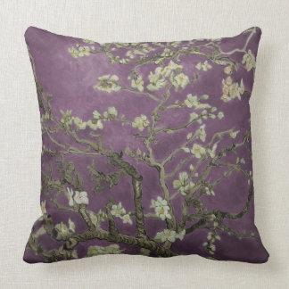 Vincent van Gogh-Purple Almond Blossoms Throw Pillow