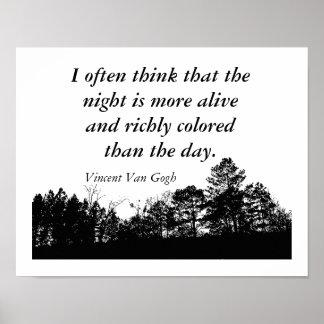 Vincent Van Gogh - Quote poster