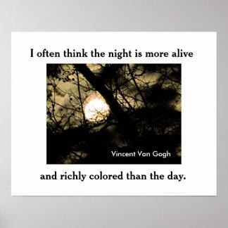 Vincent Van Gogh quote -poster Poster