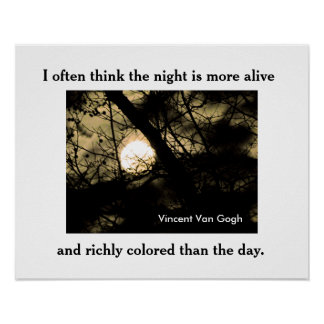 Vincent Van Gogh quote -poster Poster