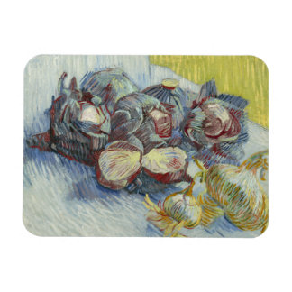 Vincent van Gogh - Red Cabbages and Onions Rectangular Photo Magnet