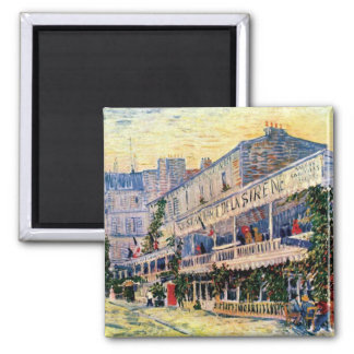 Vincent Van Gogh - Restaurant De La Sirene Square Magnet