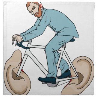 Vincent Van Gogh Riding Bike With Severed Left Ear Napkin
