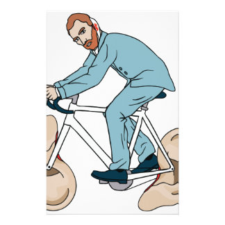 Vincent Van Gogh Riding Bike With Severed Left Ear Stationery