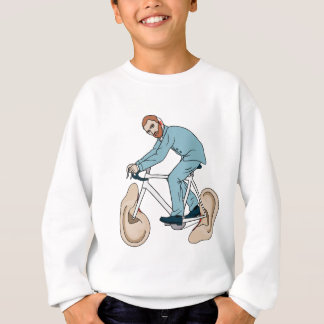Vincent Van Gogh Riding Bike With Severed Left Ear Sweatshirt