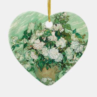 Vincent van Gogh Roses Ceramic Heart Decoration