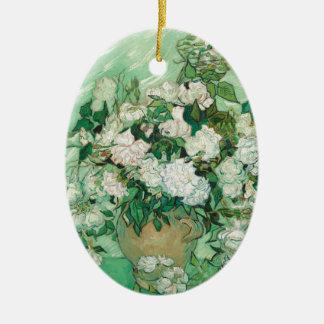 Vincent van Gogh Roses Ceramic Ornament