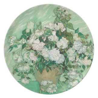 Vincent van Gogh Roses Plate
