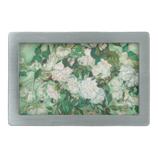 Vincent van Gogh Roses Rectangular Belt Buckle