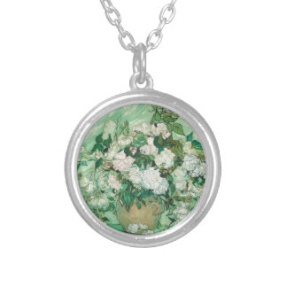 Vincent van Gogh Roses Silver Plated Necklace