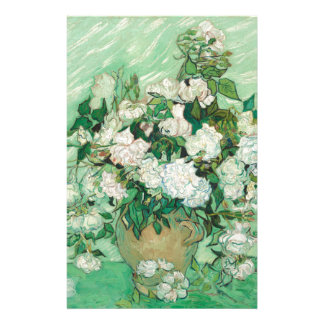 Vincent van Gogh Roses Stationery