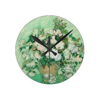 Vincent van Gogh Roses Wall Clock