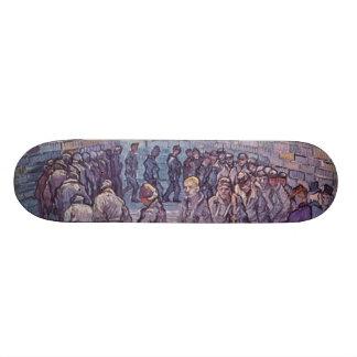 Vincent Van Gogh -  Round of Prisoners 21.6 Cm Old School Skateboard Deck