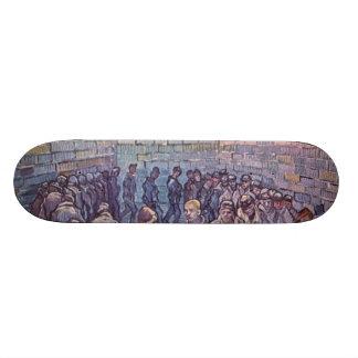 Vincent Van Gogh -  Round of Prisoners Custom Skateboard
