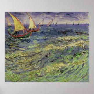 Vincent van Gogh | Seascape at Saintes-Maries Poster