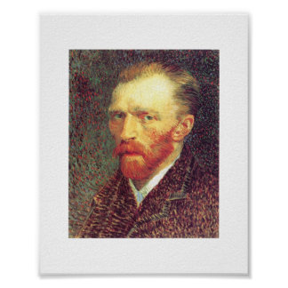 Vincent van Gogh - Self-portrait 1887 Poster