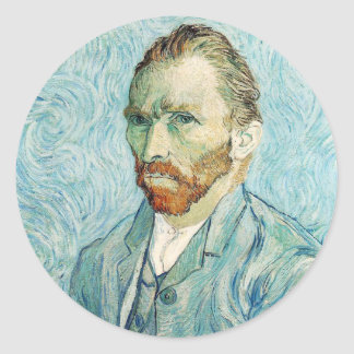 Vincent Van Gogh Self-Portrait Classic Round Sticker