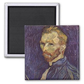 Vincent Van Gogh Self Portrait dark eyes Square Magnet