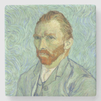 Vincent Van Gogh Self Portrait Fine Art Painting Stone Coaster