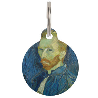 Vincent van Gogh - Self-Portrait Pet Name Tag
