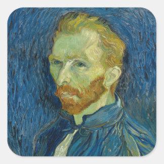 Vincent Van Gogh Self Portrait Square Sticker