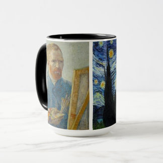 Vincent Van Gogh -Self-Portrait & Starry Night Mug