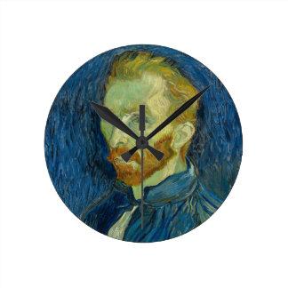 Vincent Van Gogh Self Portrait Wallclocks