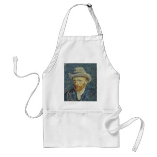 Vincent Van Gogh Self Portrait with Grey Felt Hat Standard Apron