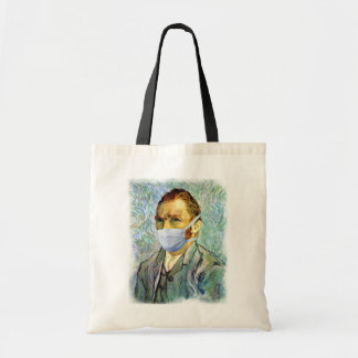 Vincent Van Gogh Self Portrait With Mask Spoof Budget Tote Bag