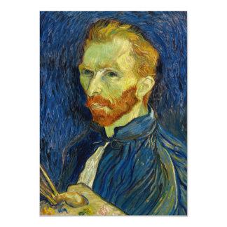 Vincent Van Gogh Self Portrait With Palette 11 Cm X 16 Cm Invitation Card