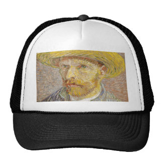 Vincent Van Gogh Self Portrait with Straw Hat Art