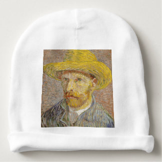 Vincent Van Gogh Self Portrait with Straw Hat Art Baby Beanie