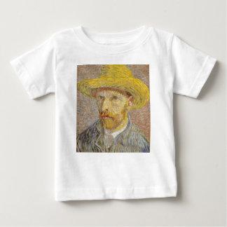 Vincent Van Gogh Self Portrait with Straw Hat Art Baby T-Shirt