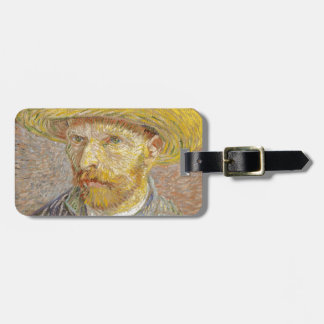 Vincent Van Gogh Self Portrait with Straw Hat Art Bag Tag