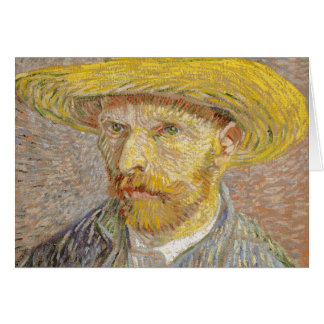 Vincent Van Gogh Self Portrait with Straw Hat Art Card
