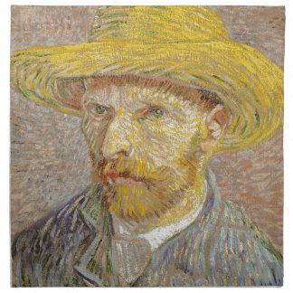Vincent Van Gogh Self Portrait with Straw Hat Art Napkin